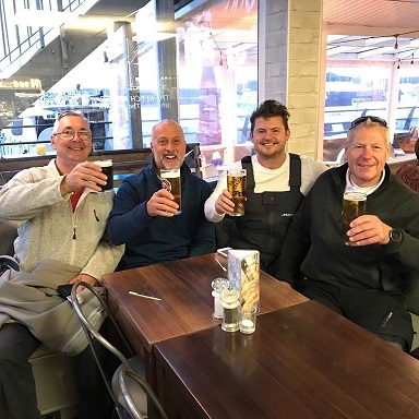 Happy sailors in the pub