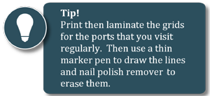 Print and laminate grids so they can be reused